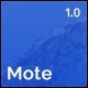 Mote - Versatile Coming Soon Template