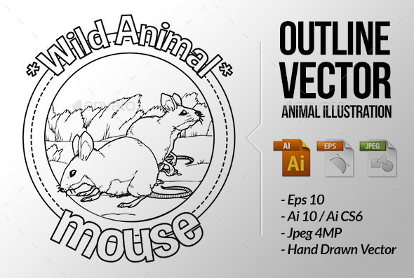 Animal Outline Vector - Mouse