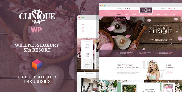 Download Clinique - Wellness Luxury Spa Resort WordPress Theme with Builder