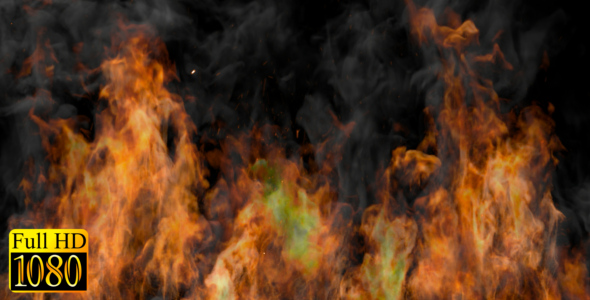 VideoHive Fire Wall 19333238