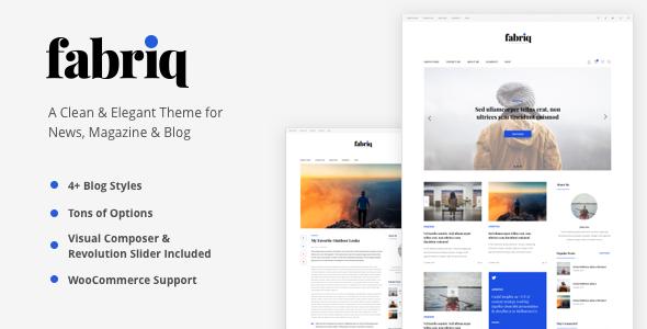 Download Fabriq - Personal WordPress Blog Theme