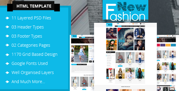 Download Fashion eCommerce Html Template