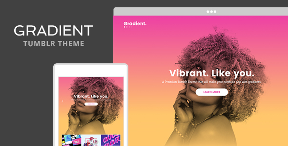 Gradient Tumblr Theme