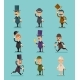 Gentleman Victorian Characters Different Poses