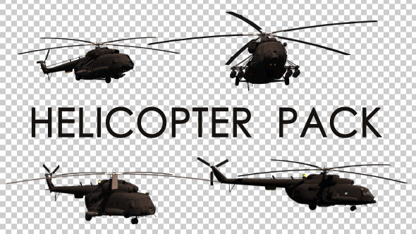 VideoHive Military Helicopter Pack 19334269