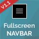 Fullscreen Navbar