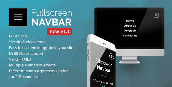 Fullscreen Navbar - CodeCanyon Item for Sale