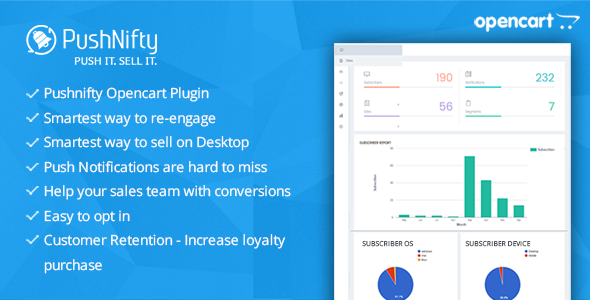 Pushnifty – Push Notification Marketing for Opencart