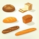 Baguette and Bricks of Toast or Butterbrot Bread