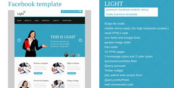 Light - Facebook Business High Resolution Template