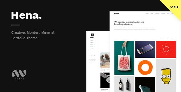 Download Hena - Minimal Portfolio Template