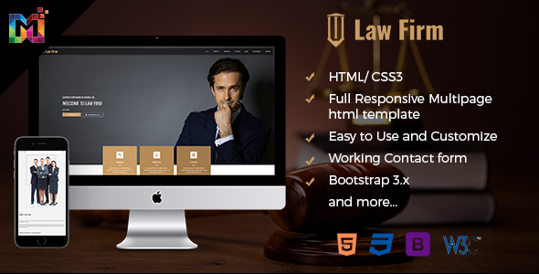 Download Responsive Law Firm Website Template