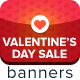 Valentine's Day Sale Ad Banners