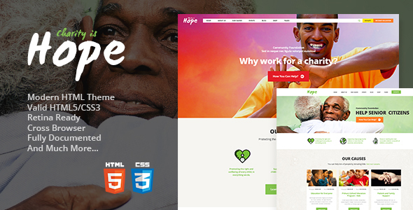 Download Hope | Non-Profit, Charity & Donations Site Template