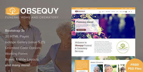 Obsequy - Funeral Home Responsive HTML5 Template
