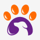 Pet Paw Logo Template