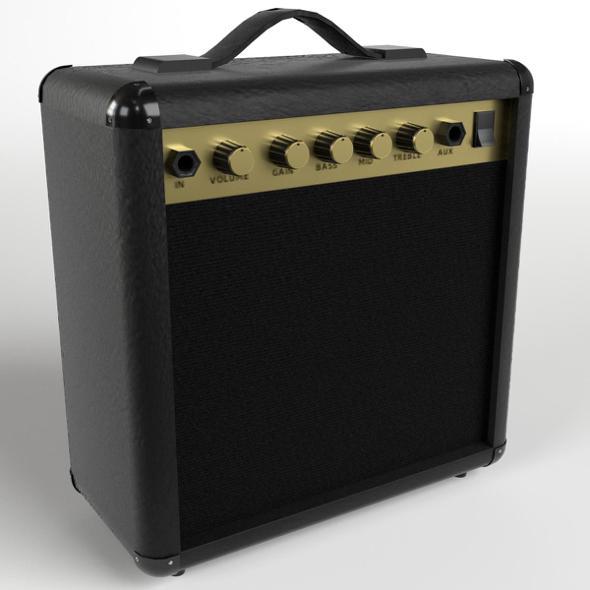 Guitar Amplifier (PBR, UV-textured) - 3DOcean Item for Sale