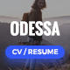 Odessa - Personal Resume, CV, VCard WordPress Theme