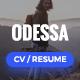 Odessa - Personal Resume, CV, VCard WordPress Theme
