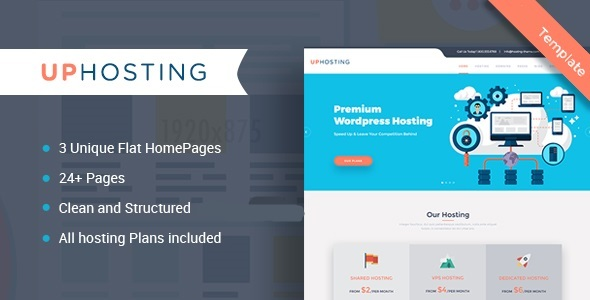UpHost - Flat Hosting Template
