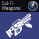 Sci-Fi Laser Rifle Bursts 6
