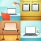 LIght Workplace Mockups Design Concept