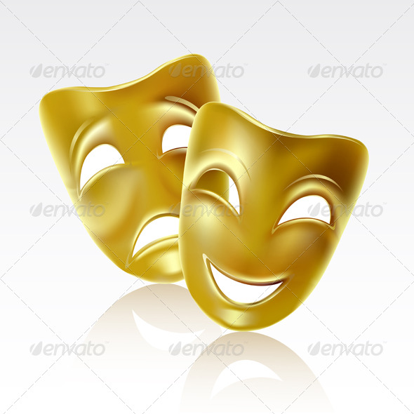 GraphicRiver Theatrical masks 223385