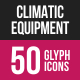 Climatic Equipment Glyph Inverted Icons