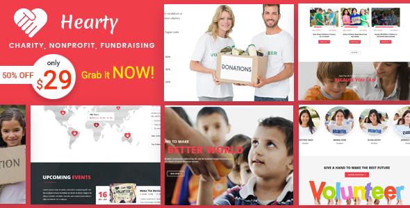 Charity WordPress Theme | Hearty Charity WP