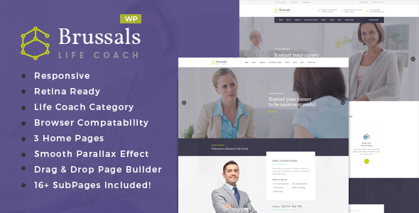 Brussals - Personal Development Coach WordPress Theme