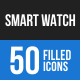 Smart Watch Blue & Black Icons