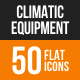 Climatic Equipment Flat Round Icons