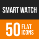 Smart Watch Flat Round Icons