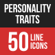 Personality Traits Filled Line Icons
