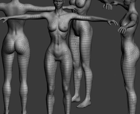 girl model - 3DOcean Item for Sale
