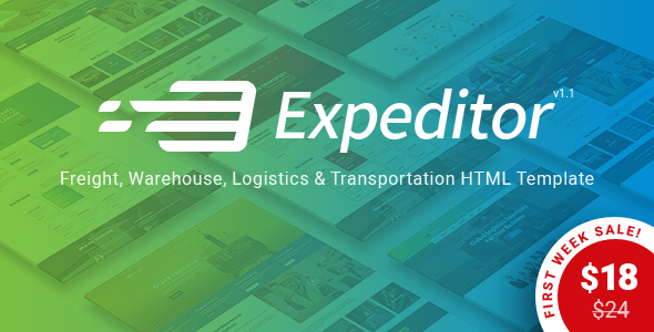 Download Expeditor - Freight, Logistics, Warehouse & Transportation HTML Template
