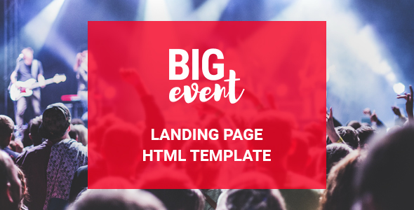BigEvent Landing Web page HTML Template (Landing Pages)