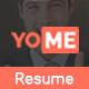 YoMe - Multipurpose Resume Joomla Template