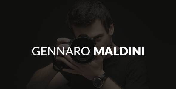 Gennaro Maldini Photography WordPress Theme