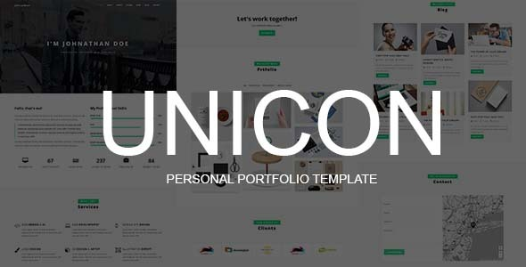 UNICON - Personal Portfolio Template by ThemeLabBD | ThemeFo ...