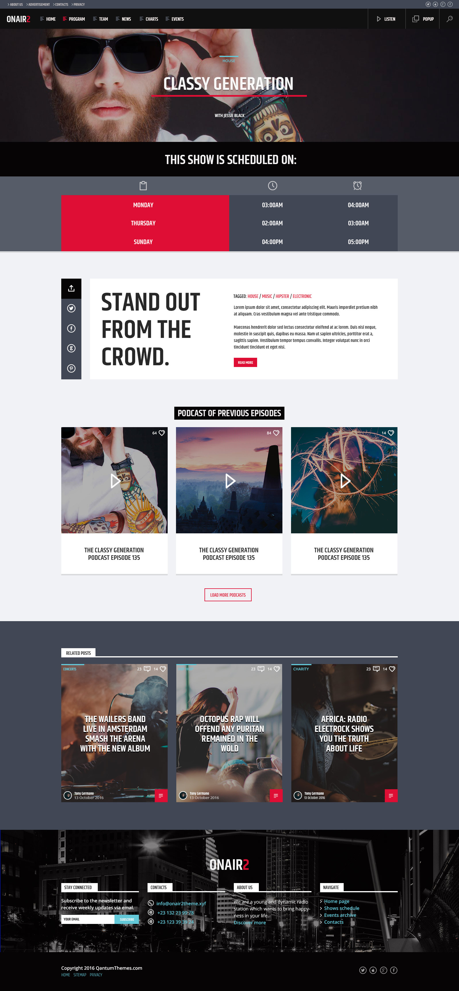 Onair2: Radio Station WordPress Theme by QantumThemes | ThemeForest