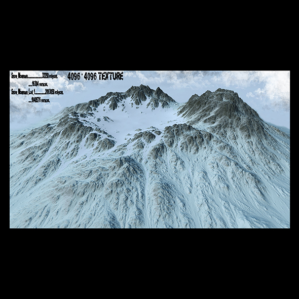 snow mountain 1 - 3DOcean Item for Sale