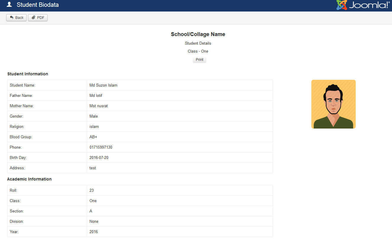 school management system for joomla by zwebtheme codecanyon 03 student biodata png