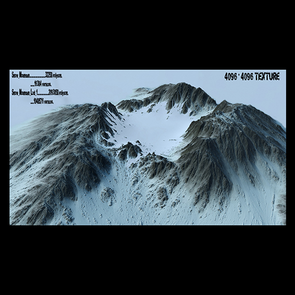 snow volcano - 3DOcean Item for Sale