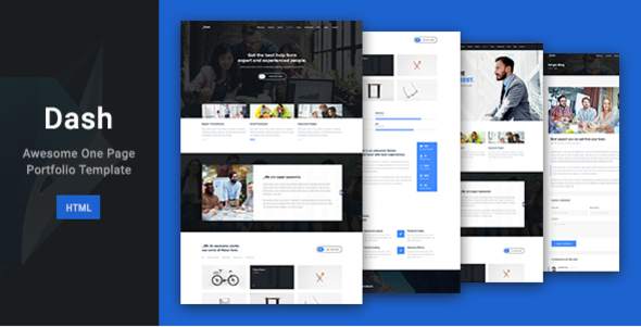 One Page Portfolio, Agency Creative HTML5 Template - Dash