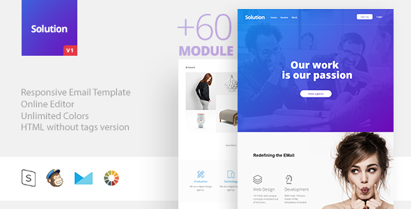 Remedy – Responsive E mail + StampReady Builder (E mail Templates)