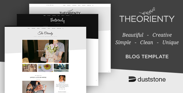 TheOrienty - A Scew Header Blog Theme