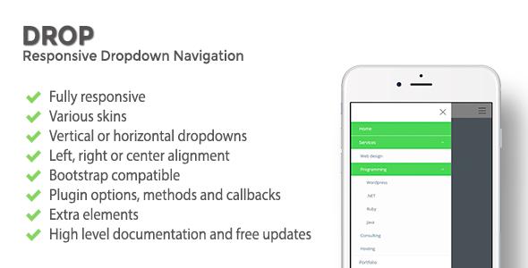 Download DROP | Responsive Dropdown Navigation nulled download