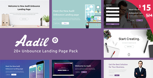Multi-Purpose Template with Unbounce Page Builder - Aadil