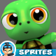 Turtle 4 Directional  Game Character Sprites 08